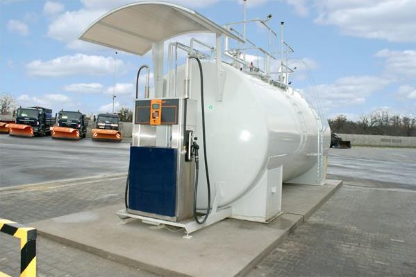 Diesel Tank Abfüllplatz