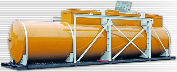 Unterirdische Tankanlagen für Diesel, Benzin und andere Kraftstoffe