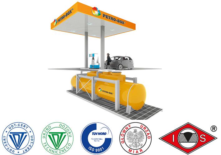 Unterirdische Tankanlagen für Diesel, Benzin und andere Kraftstoffe.